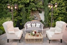 http://socalweddingconsultant.com Southern California Wedding Planner Decor Franciscan Gardens Wedding San Juan Capistrano