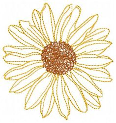 Sunflower Embroidery Design - Instant Download by JEmbroiderynApplique on Etsy https://www.etsy.com/listing/192650998/sunflower-embroidery-design-instant