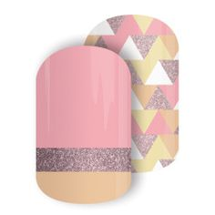 Jewelry Box | Jamberry A spunky Mixed Mani featuring hues of pink and gold sparkle for a flirty, fun look! Jamberry Nail Wraps Nail Art