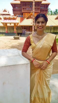 Pure Kanjipuram saree in sandalwood.  #kalyansilks