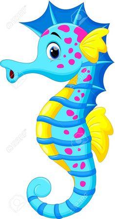 Illustration about Illustration of Cute Seahorse Cartoon. Illustration of drawing, marine, picture - 32326964 Seahorse Cartoon, Cartoon Sea Animals, Seahorse Art, Cartoon Fish, Cute Cartoon, Seahorses, Illustration Vector, Sea Theme, Fish Art