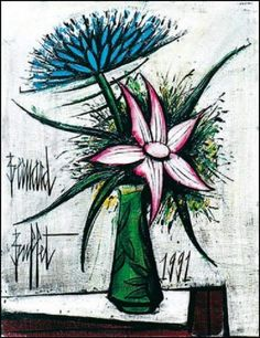 Find artworks by Bernard Buffet (French, 1928 - on MutualArt and find more works from galleries, museums and auction houses worldwide. Weird Pictures, Pictures To Draw, Abstract Flowers, Abstract Art, Buffet, Illustrator, Art Français, True Art, French Art
