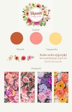 Moodboard for a flower shop's webpage.