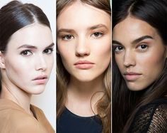 Spring/ Summer 2015 Makeup Trends: Natural No Makeup Look.  We love this look because it shows off how beautiful your skin is.  If you're not quite ready to go minimal, see our skin care specialists.  Treating your skin right through diet, exercise, and a product regiment that you'll stick with are key to beautiful, healthy skin.
