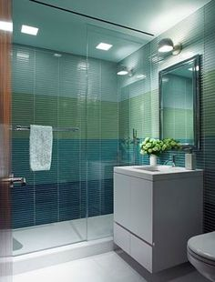 Beautiful Ombre tile shower is inspiring us today! #TileTuesday #TileSensations