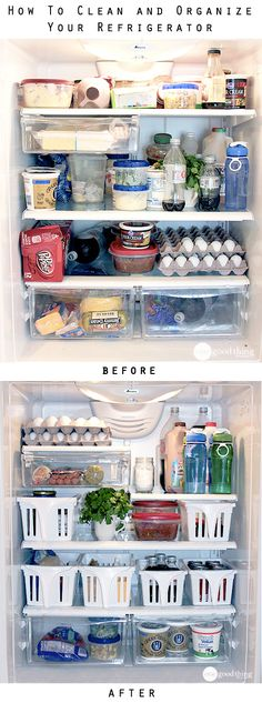 Clean and Organize Your Refrigerator - One Good Thing by Jillee