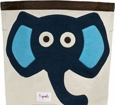 This 3 Sprouts Blue Elephant Storage Bin is ideal in the nursery or children's bedroom for storing toys or clothes, or use as a laundry basket. The 3 Sprouts Storage Bin is made from cotton canvas with a polyester felt applique. Nursery Storage Baskets, Toy Storage Bins, Toy Bins, Kids Storage, Easy Storage, Bedroom Storage, Storage Organization, Storage Containers, Storage Boxes