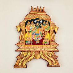 Ramar Pattabhishekam wedding scene -Home decor Tanjore wood panels wedding gift Kerala Mural Painting, Tanjore Painting, Wooden Wall Panels, Wooden Walls, Carbon Paper Transfer, Emboss Painting, Home Decor Hooks, Dream Photography, Wedding Scene