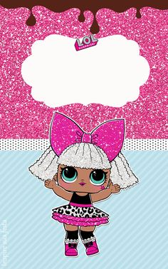 The centerpiece at this LOL Surprise Dolls birthday party i - Her Crochet Girl Birthday, Birthday Cards, Birthday Parties, Free Printable Birthday Invitations, Doll Party, Lol Dolls, Party Themes, Dora Cake, Surprise Ideas