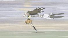 Nanami and Tomoe Running Gif Kamisama Kiss XD