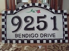 Hand Painted House Number Sign address sign by paintingbymichele, $55.00