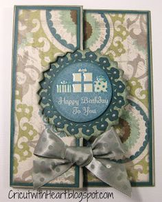 Cricut with Heart: Artiste Swing Card with Avonlea