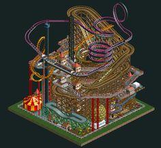 Micro Park in RollerCoaster Tycoon 2 - http://ift.tt/1iCUsta
