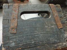 Vintage Aufbewahrung - Antike Holzkiste schwarz-grau 100 Jahre alt SHABBY - ein Designerstück von SHABBYInternational bei DaWanda