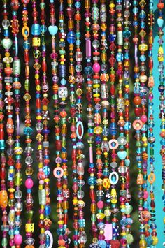 Beaded Curtain, Bohemian Hippie Wall Art, Boho Home Decor, Suncatcher Curtain, Colorful Window Treatment - bohemian house - Bohemian House, Boho Home, Bohemian Decor, Hippie House, Bohemian Living, Meubles Peints Style Funky, Armband Tutorial, Beaded Door Curtains, Bohemian Curtains