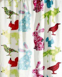 The playful curtain Pihajengi from Vallila has a lovely pattern with pretty animals in different colors and sizes. This curtain fits perfect in a children's room, combine it with other pretty and colorful things! Home Textile, Textile Design, Unique Curtains, Interiors Online, Pretty Patterns, Scandinavian Interior, Room Inspiration, Colorful Rugs, Playroom