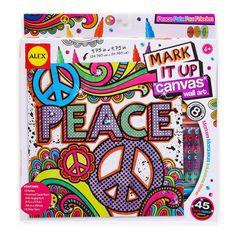 Mark It Up Canvas Wall Art - Peace
