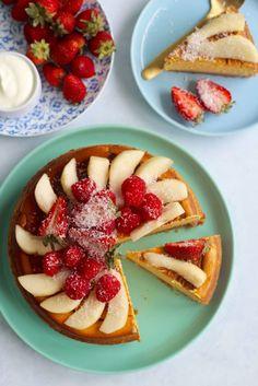 Healthy baked pumpkin cheesecake   Grain free, gluten free, refined sugar free!