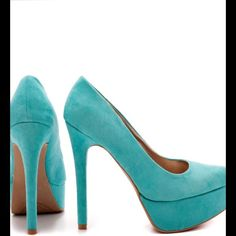 Selling this Tiffany blue teal turquoise heels on Poshmark! My username is: taytay19sth. #shopmycloset #poshmark #fashion #shopping #style #forsale #Nasty Gal #Shoes