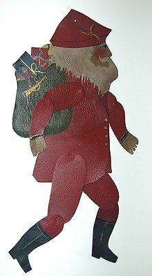 Handcrafted Tin Jointed Santa.  Shadow Dancer.  Purchased 2013