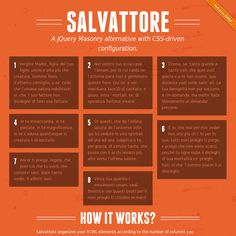Salvattore A jQuery Masonry alternative with CSS-driven configuration.