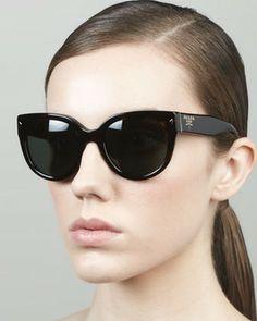 Prada Heritage Cat-Eye Sunglasses, Tortoise on shopstyle.com
