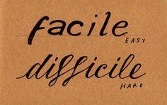Learning Italian - Facile / Difficile