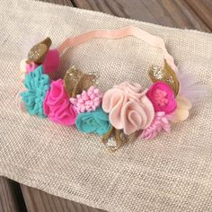 READY TO SHIP // Felt Flower Crown // Peach by fancyfreefinery