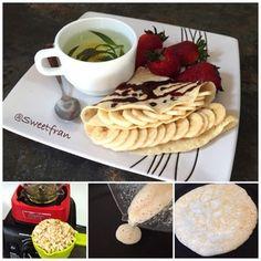 Panqueque de arroz integral. (Crepe) http://www.sweetfran.com/content/post/panqueque-de-arroz-integral-pancake