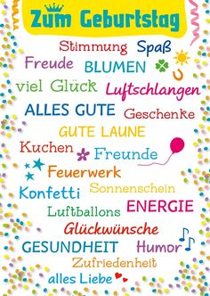 Das Beste zum Geburtstag Send the best birthday now online or via app as a real postcard. on the theme of Happy Birthday Birthday Card Sayings, Birthday Quotes, Birthday Wishes, Birthday Cards, Happy Day, Happy New Year, Birthday Congratulations, German Quotes, German Language Learning