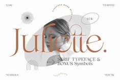 Juliette - Poetic Serif + Symbols by Madebysté Studio Graphic Design Fonts, Web Design, Design Typography, Layout Design, Typography Logo, Lettering, Logo Design, Logos, Display Font