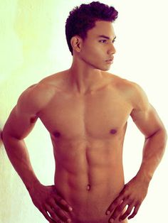 Model Duane J. Moreno demonstrates how he can go w/o clothes any day of the week.