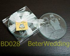 BeterWedding favor wholesale Bride and Groom glass coaster set BD028 100pcs, 50set as party decoration wedding favours ,gifts on AliExpress.com. 5% off $52.25