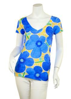 Amole Blue (3030) Signature Short Sleeve V-neck T-shirt