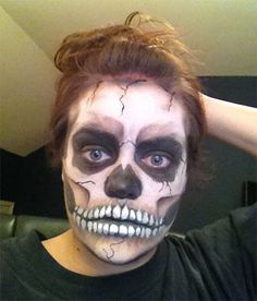 httpss media cache ak0pinimgcom236xaf43d3 - Easy Scary Halloween Face Painting Ideas