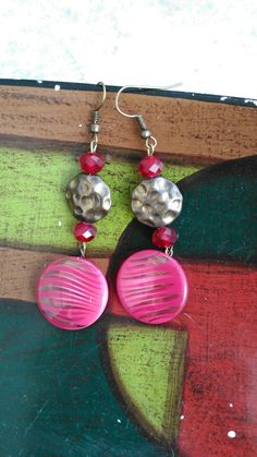 Buttons earrings by Paperandbuttons! Visit our page on FB!