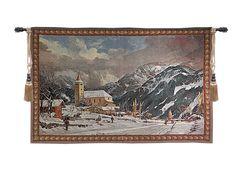 Alpine Village Tapestry Wall Hanging