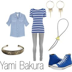 Fashion inspired by Yami Bakura. I want this sort of outfit, but I'm too lazy right now to go get it.