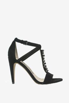 Black leather 'Nance' ankle strap sandals tumblr online CtzrQ