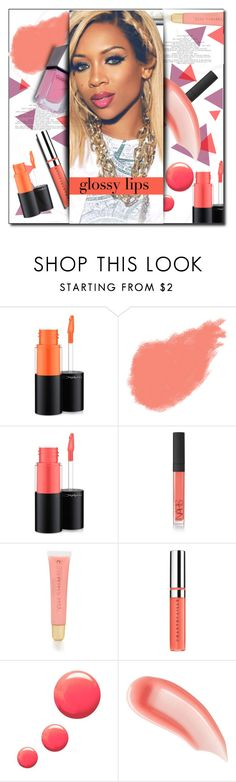 """Glossy Lips"" by caticorn16 ❤ liked on Polyvore featuring beauty, MAC Cosmetics, Bobbi Brown Cosmetics, NARS Cosmetics, Forever 21, Chantecaille, Topshop, Ilia, GUiSHEM and GetTheLook"