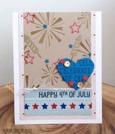 Let's Celebrate! Lawn Fawn Independence Day Card | www.laurentaylormade.com