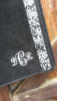 Bridesmaid gifts - Black  Spa Wrap Towel with SNAPS by CamelaSkyDesigns on Etsy