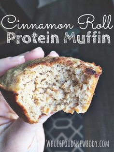 Ultimate Beginners Guide to Clean Eating Whole Foods.New Body!: {Cinnamon Roll Protein Muffins} These are SO yummy !Whole Foods.New Body!: {Cinnamon Roll Protein Muffins} These are SO yummy ! Protein Dinner, Healthy Protein Snacks, Healthy Muffins, Healthy Sweets, Healthy Baking, Protein Bars, High Protein Muffins, Protein Powder Muffins, Protein Cookies