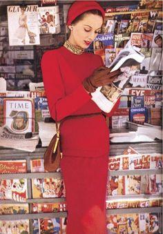 Glamour, September 1949.  Photographers: Diane & Allan Arbus. S)