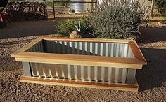 Three raised bed designs! Love the galvanized look! :)