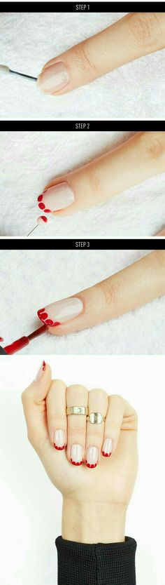 Cool Nail Art Ideas -Easy Scalloped Nail Art Painting and Nail Polish Ideas- Candy Coat Stars and Stripes Nail Design Tutorial – Easy Nail Art Tutorials – Fun and Easy DIY Nail Designs – Step By Step Tutorials and Instructions for Manicures at Home Nail Art Diy, Easy Nail Art, Cool Nail Art, Diy Nails, Fancy Nails, Cute Nails, Uñas Diy, Fun Diy, Nail Polish Painting