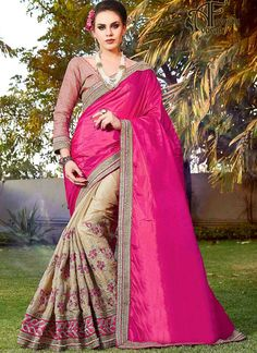 Pink buy party wear sarees online – georgette sarees online at low price