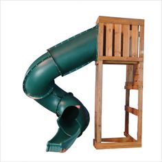 Swing Set Stuff Turbo Tube Slide Green Playground Accessories Fort Playset 0146 for sale online Deck Slide, Swing And Slide, Water Slides, Pool Slides, Childrens Slides, Backyard Playground, Backyard Ideas, Playground Ideas, Landscaping Ideas