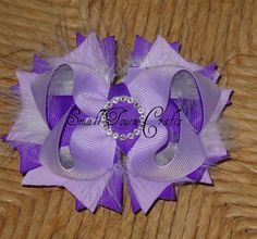 lilac hairbow