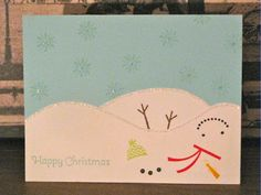Crafty Paws by Trisha: Melted Snowman Holiday Card